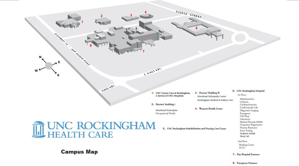 Rockingham campus map
